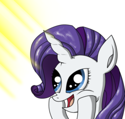 Size: 900x855 | Tagged: artist:zsparkonequus, happy, rarity, safe, smiling, solo, sunshine, surprised
