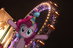 Size: 5184x3456 | Tagged: artist:mr-blitz, carnival, ferris wheel, irl, photo, pinkie pie, ponies in real life, safe, solo