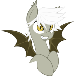 Size: 4768x4915 | Tagged: safe, artist:zee66, oc, oc only, oc:gloom wing, bat pony, pony, absurd resolution, simple background, solo, transparent background, vector