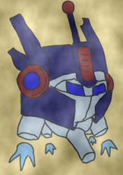 Size: 270x383   Tagged: safe, artist:reifutd, fallout equestria, fallout equestria: arcane division, arcane division, convoy, fallout, optimus, optimus prime, spritebot, transformers