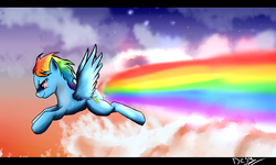 Size: 1500x900 | Tagged: artist:blackdema, flying, rainbow dash, safe, solo