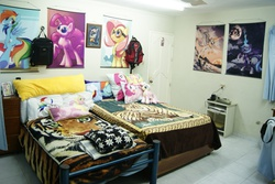 Size: 1920x1280 | Tagged: bed, bedroom, decoration, interior, irl, merchandise, photo, safe