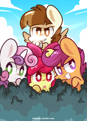 Size: 500x700 | Tagged: apple bloom, artist:php56, camera, cutie mark crusaders, featherweight, safe, scootaloo, sweetie belle