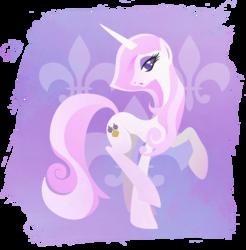 Size: 901x916 | Tagged: safe, artist:rariedash, fleur-de-lis, pony, unicorn, cutie mark, cutie mark background, female, hooves, horn, lineless, mare, pose, solo