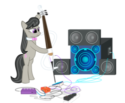 Size: 4000x3312 | Tagged: artist:octavia_synch, artist:synch-anon, bass cannon, electric cello, octavia, octavia melody, safe, solo