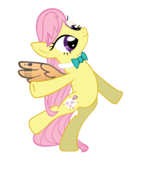 Size: 5000x6093 | Tagged: absurd res, artist:octavia_synch, artist:synch-anon, cosplay, fluttershy, hidden cutie mark, octavia melody, octoshy, safe, solo