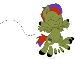 Size: 824x651 | Tagged: artist:bronyswagjacob2, colt, flying, male, oc, oc only, pegasus, pony, safe, solo, stormy harold, younger