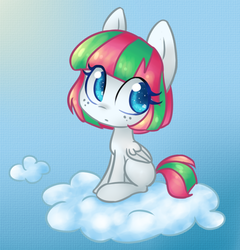 Size: 786x820 | Tagged: artist:bunnini, ask filly blossomforth, blossomforth, female, filly, filly blossomforth, safe, solo