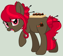 Size: 749x659 | Tagged: artist:pixiehannah, earth pony, food, oc, oc only, pony, safe, solo, truffle, vector