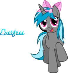 Size: 4609x5000 | Tagged: absurd res, artist:theshadowstone, bow, everfree network, headset, logo, mascot, microphone, oc, oc only, oc:star flower, pony, safe, solo, unicorn