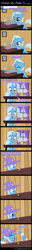 Size: 1250x9700 | Tagged: safe, artist:evil-dec0y, trixie, fish, goldfish, hamster, pony, unicorn, comic:trixie vs., 80s, alternate hairstyle, braces, cape, clothes, comic, crying, cute, death, diatrixes, female, filly, filly trixie, fishbowl, hat, mare, ocular gushers, pet, pet rock, rock, teenager, trixie's cape, trixie's hat, x eyes, younger