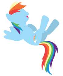 Size: 7446x9000 | Tagged: absurd res, artist:estories, laughing, rainbow dash, safe, simple background, solo, transparent background, vector