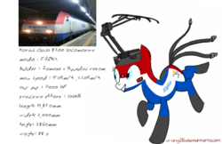 Size: 1114x720 | Tagged: artist:orang111, doodle, electric wire, hyundai rotem, korail, korea, locomotive, pantograph, ponified, safe, siemens, sketchbook mobile, train