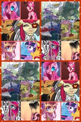 Size: 1200x1800 | Tagged: safe, apple bloom, applejack, babs seed, fluttershy, pinkie pie, sunset shimmer, trixie, twilight sparkle, pony, unicorn, filly, filly sunset, filly trixie, filly twilight sparkle, pinkamena diane pie, younger
