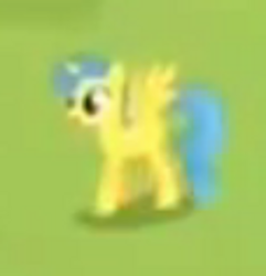 Size: 300x311 | Tagged: safe, screencap, lemon hearts, alicorn, pony, rainbow falls, alicornified, animation error, blurry, female, lemoncorn, mare, needs more jpeg, race swap, solo, spot the alicorn