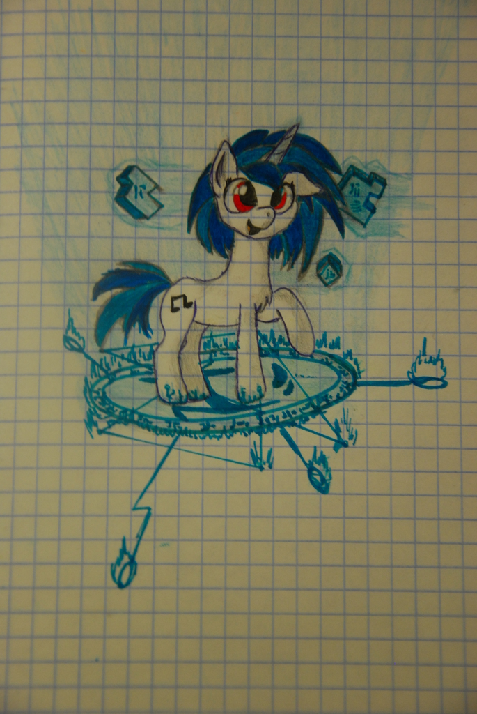 527736 artist scratchie dj pon 3 draw graph paper happy lined