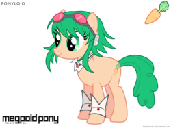 Size: 4500x3369 | Tagged: absurd res, artist:baraniruchu, gumi, ponified, safe, simple background, solo, transparent background, vector, vocaloid