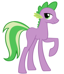Size: 5555x6334 | Tagged: absurd res, artist:pappkarton, long legs, ponified, ponified spike, .psd available, safe, simple background, solo, spike, tall, transparent background, vector