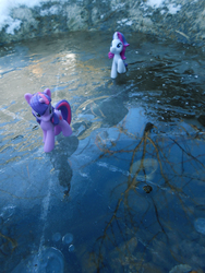 Size: 934x1245 | Tagged: artist:synch-anon, ice, irl, photo, rarity, safe, toy, twilight sparkle