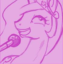 Size: 206x208 | Tagged: artist:johnjoseco, ask princess molestia, microphone, princess celestia, princess molestia, safe, singing, solo