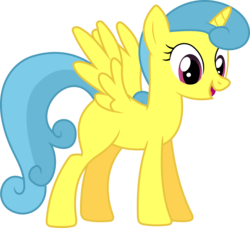 Size: 6574x6000 | Tagged: safe, artist:dasprid, lemon hearts, alicorn, pony, rainbow falls, absurd resolution, alicornified, background pony, blank flank, everyone is an alicorn, female, lemoncorn, mare, race swap, simple background, solo, transparent background, vector