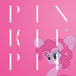 Size: 1024x1024 | Tagged: safe, artist:metal6is6art6, pinkie pie, album cover, album parody, black metal, deafheaven, solo, sunbather