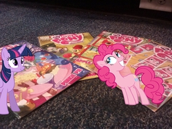 Size: 2592x1944 | Tagged: safe, artist:racefox, artist:shelmo69, artist:tokkazutara1164, idw, apple bloom, big macintosh, pinkie pie, twilight sparkle, alicorn, pony, comic, floor, irl, photo, pile, ponies in real life, shadow, vector
