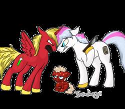 Size: 888x777   Tagged: safe, artist:invaderugli, alicorn, pony, aqua teen hunger force, frylock, knife, master shake, meatwad, ponified