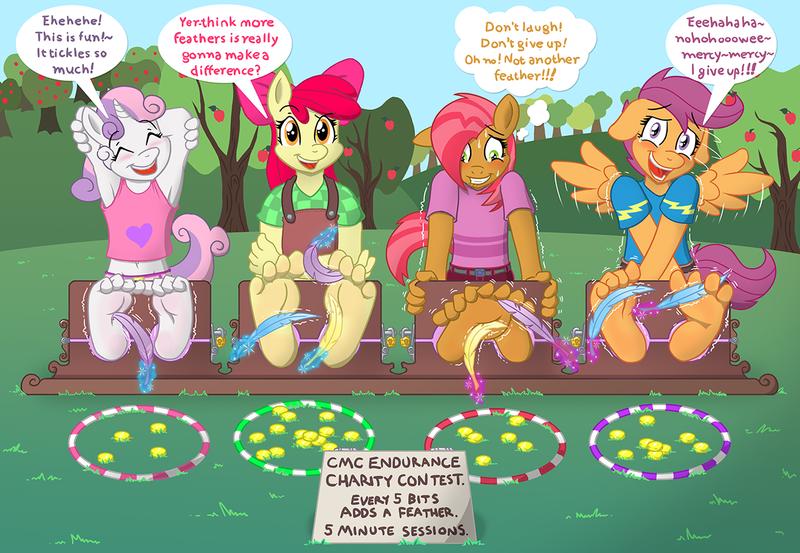 tickle torture, tickling, toes - Derpibooru - My Little Pony