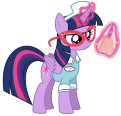 Size: 6276x6000   Tagged: safe, artist:masem, twilight sparkle, alicorn, pony, three's a crowd, absurd resolution, adorkable, clothes, cute, dork, female, glasses, magic, mare, notepad, quill, simple background, solo, transparent background, twilight sparkle (alicorn), vector, waitress, waitress twilight sparkle