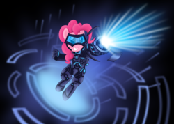 Size: 5857x4167   Tagged: safe, artist:psyxofthoros, pinkie pie, absurd resolution, crossover, ezreal, funny, hmd, league of legends, lol, solo, vector