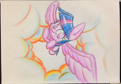Size: 773x537 | Tagged: artist needed, source needed, safe, twilight sparkle, alicorn, pony, colored, female, flying, mare, pencil drawing, solo, twilight sparkle (alicorn)