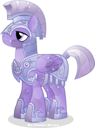 Size: 2657x3566 | Tagged: safe, artist:vector-brony, amethyst stone, crystal pony, pegasus, pony, three's a crowd, armor, crystal guard, crystal guard armor, crystal pegasus, simple background, solo, transparent background, vector