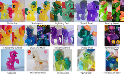 Size: 850x510 | Tagged: alicorn, blind bag, diamond mint, emerald, female, fluttershy, green jewel, irl, lightning dust, mare, mosely orange, peachy sweet, photo, pony, princess cadance, prototype, rainbowshine, rainbow swoop, safe, snails, snailsquirm, snips, snipsy snap, spectrum, strawberry sunrise, sunshower raindrops, taobao, toy, trixie, twilight sparkle, twilight sparkle (alicorn), uncle orange