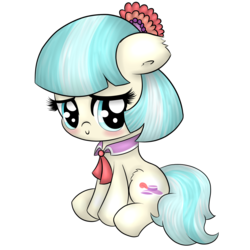 Size: 4000x4000 | Tagged: safe, artist:wickedsilly, coco pommel, cocobetes, cute, solo