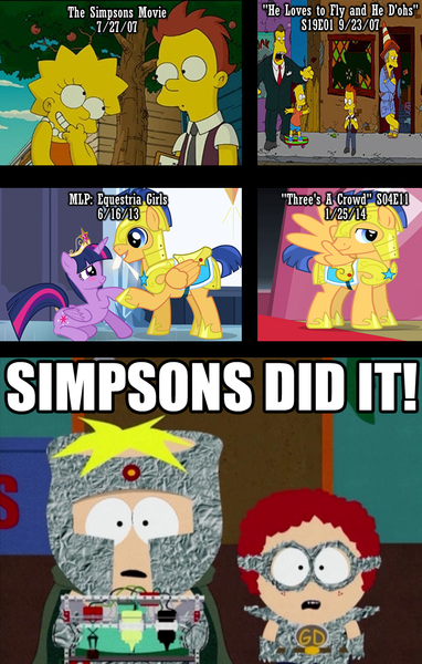 538795 Arnold Schwarzenegger Butters Stotch Colin Dougie Equestria Girls Female Flashlight Flash Sentry General Disarray Lisa Simpson Male Meme Professor Chaos Safe Shipping Simpsons Did It South Park Straight The Simpsons
