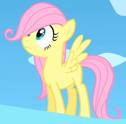 Size: 328x323 | Tagged: safe, screencap, fluttershy, pegasus, pony, the cutie mark chronicles, cropped, cute, female, filly, filly fluttershy, foal, mare, shyabetes, solo, spread wings, wings, younger