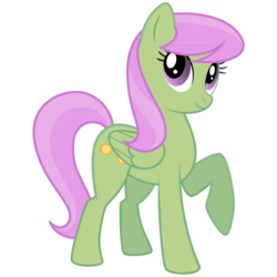 Size: 900x900 | Tagged: safe, artist:zeal-hime, merry may, pegasus, pony, background pony, raised hoof, simple background, solo, transparent background, vector