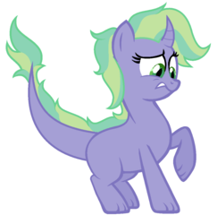 Size: 1016x1044 | Tagged: safe, artist:unoriginai, dracony, dragon, hybrid, abomination, crack ship offspring, interspecies offspring, offspring, parent:spike, parent:trixie, parents:spixie, simple background, solo, white background