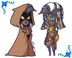 Size: 500x400 | Tagged: safe, artist:the-knick, zecora, human, cloak, clothes, dark skin, female, glowing eyes, hood, humanized, poison joke, simple background, solo, white background