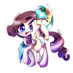 Size: 900x900 | Tagged: safe, artist:inky-pinkie, coco pommel, rarity, rarity takes manehattan