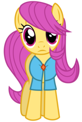 Size: 4000x6000 | Tagged: safe, artist:magister39, filli mellow, pursey pink, earth pony, pony, rarity takes manehattan, absurd resolution, female, looking at you, open front blouse, simple background, solo, transparent background, vector