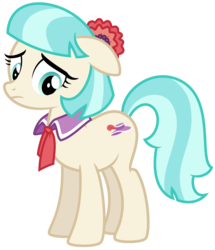 Size: 7036x8192 | Tagged: safe, artist:thatguy1945, coco pommel, earth pony, pony, rarity takes manehattan, absurd resolution, female, floppy ears, mare, sad, simple background, solo, transparent background, vector