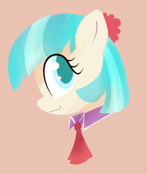 Size: 625x738 | Tagged: safe, artist:lance, coco pommel, rarity takes manehattan, bust, colored pupils, portrait, solo