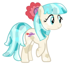 Size: 1280x1142   Tagged: safe, artist:rosi2004, coco pommel, crystal pony, pony, rarity takes manehattan, crystallized, simple background, solo, transparent background, vector