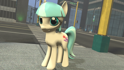 Size: 1920x1080   Tagged: safe, artist:postal-code, coco pommel, rarity takes manehattan, 3d, gmod, solo, wip