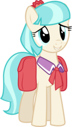 Size: 318x561   Tagged: safe, artist:canon-lb, coco pommel, rarity takes manehattan, absurd resolution, grin, saddle bag, simple background, smiling, solo, transparent background, vector