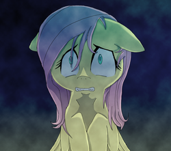 Size: 2008x1772 | Tagged: safe, artist:maplebrush, fluttershy, dark, scared, solo