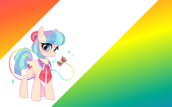Size: 1920x1200   Tagged: safe, artist:muffinmachine, coco pommel, rarity takes manehattan, art theft, solo, wallpaper