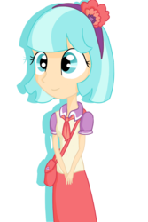 Size: 1200x1800   Tagged: safe, artist:rizzych, coco pommel, equestria girls, rarity takes manehattan, equestria girls-ified, humanized, light skin, simple background, solo, transparent background